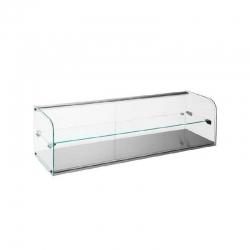 Vitrina Expositora Neutra Cristal Curvada 2 piso